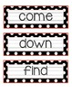 Polka Dot Pre-Primer SIGHT WORD Cards FREEBIE!