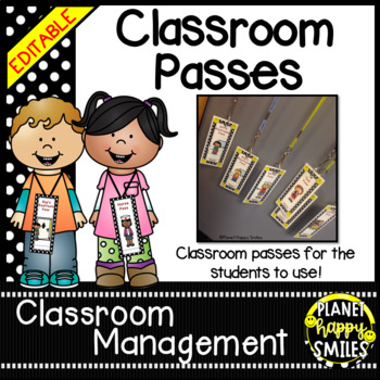 Classroom Passes ~ Polka Dot Print B/W