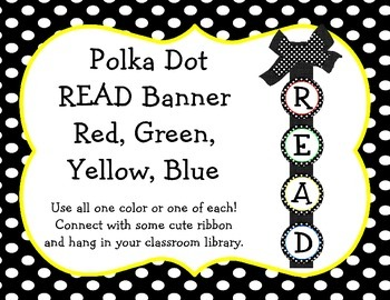 Polka Dot READ Banner