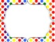 Polka Dot Rainbow Dot Frames Freebie