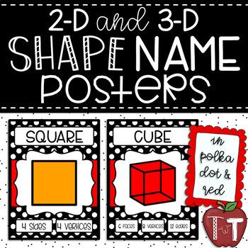Polka Dot Shape Name Posters