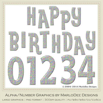 Polka Dot Silver Foil Birthday Numbers & Happy Birthday Wo