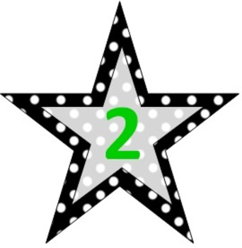 Polka Dot Star Number Signs- Multiple uses!!!