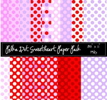 Polka Dot Sweetheart Paper Pack