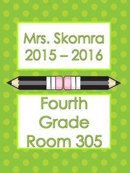 Polka Dot Teacher Binder Cover Sheets