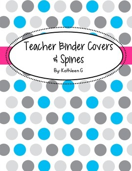 Polka Dot Teacher Binder Covers and Spines