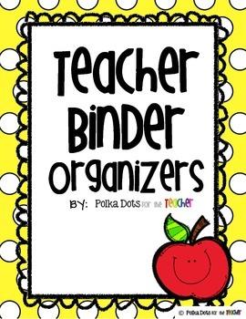 Polka Dot Teacher Binder Organizers