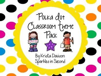 Polka Dot Theme Classroom Decor Pack