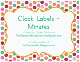 Polka-Dot Theme Clock Labels