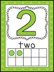 Polka Dot Themed Number Posters 1-20 with Ten Frames