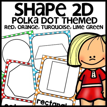 Polka Dot Themed Shape Posters (colors: turquoise, green,