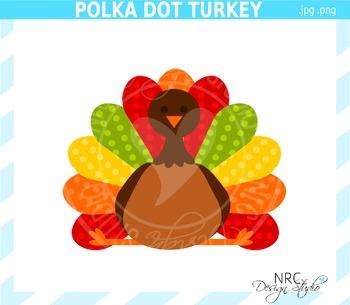 Polka Dot Turkey Clip Art - Commercial Use Clipart