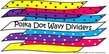 Polka Dot Wavy Dividers