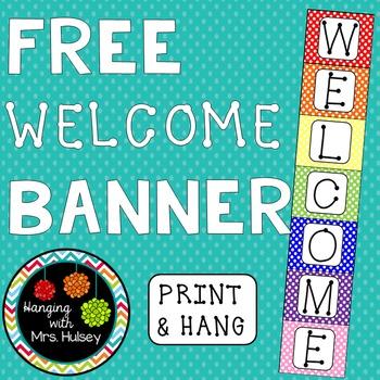 Polka Dot Welcome Banner (Freebie)