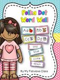 Polka-Dot Word Wall