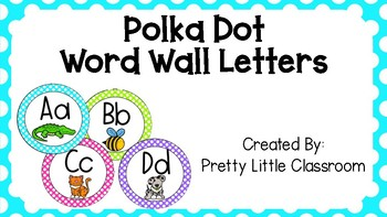 Polka Dot Word Wall