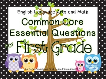 Polka Dot and Owl ELA and Math Common Core Essential Quest
