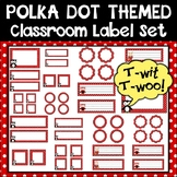 Owls and Polka Dot Themed Classroom Label Set {Editable}