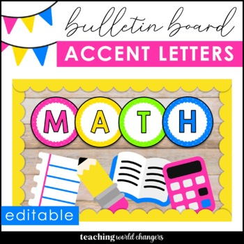 Bulletin Board Letters and Numbers {Editable!}