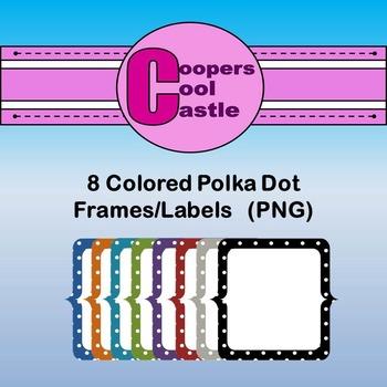 Polka Dots Frames (Digital Clip Art) CCC