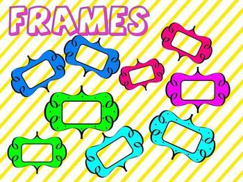 Polka Dots Frames/Labels