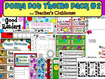 Polka Dots Theme Pack #2 from Teacher's Clubhouse