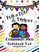 Polka Dots and Stripes Communication Notebook Set