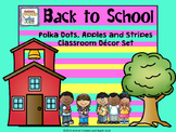 Polka Dots and Stripes Mega with Apple Accents Classroom O