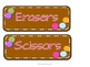 Polka Dots on Chocolate Labels