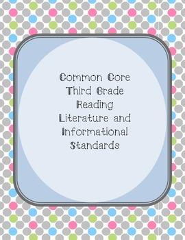 Polka Dot Third Grade Common Core Reading Standards
