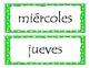 Polka dot Days of the Week in Spanish