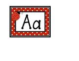 Polka dot Word Wall Letters with Ladybug