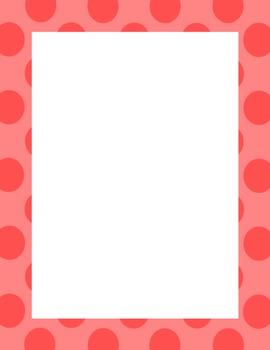 Polka dots, Stripes and Arrows Borders