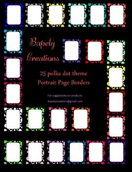 PolkaDot Portrait Borders