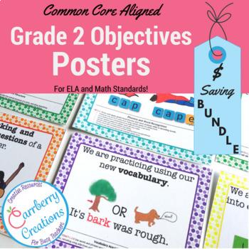 2nd Grade Common Core Standards Posters: Polkadot  BUNDLE