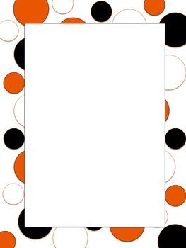 Polkadot Border *Bengals* Black, Orange, White