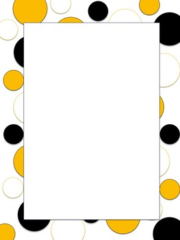 Polkadot Border *Steelers* Black, Yellow, White