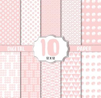 Polkadot Pink Digital Paper