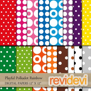 Polkadot papers for digital cover