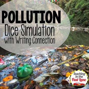 Pollution Dice Simulation with Writing Connection