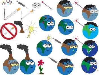 Science learning Pollution Clip art Planet cigarette flowe