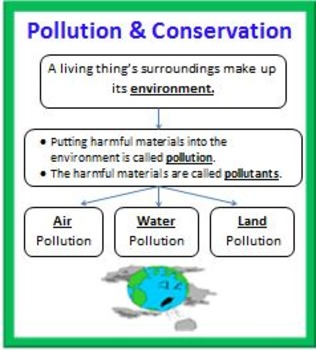 Pollution and Conservation BUNDLE