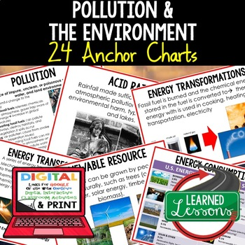 Earth Science Pollution and It's Effects Anchor Charts