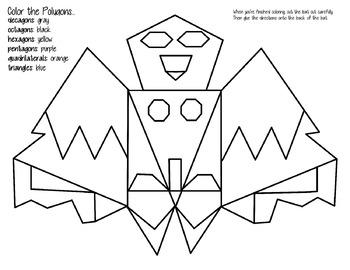 Polygon Bat Coloring Page