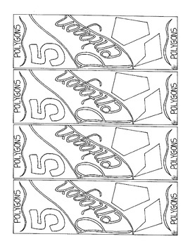 Polygon Bookmark Pentagon 5 Sided Figure Coloring Page PDF
