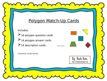 Polygon Match-Up Card Game