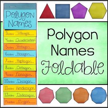 Polygon Names Foldable