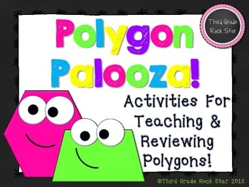 Polygon Palooza! Common Core Geometry Packet (Chalkboard Theme)