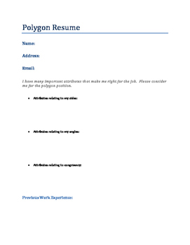 "Polygon Resume For a ""Job Interview"""