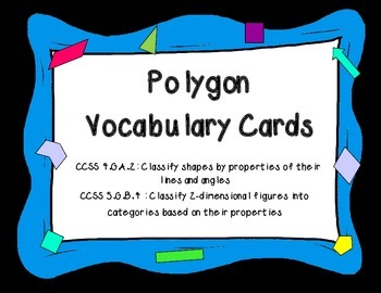 Polygon Vocabulary Cards / Mini Posters